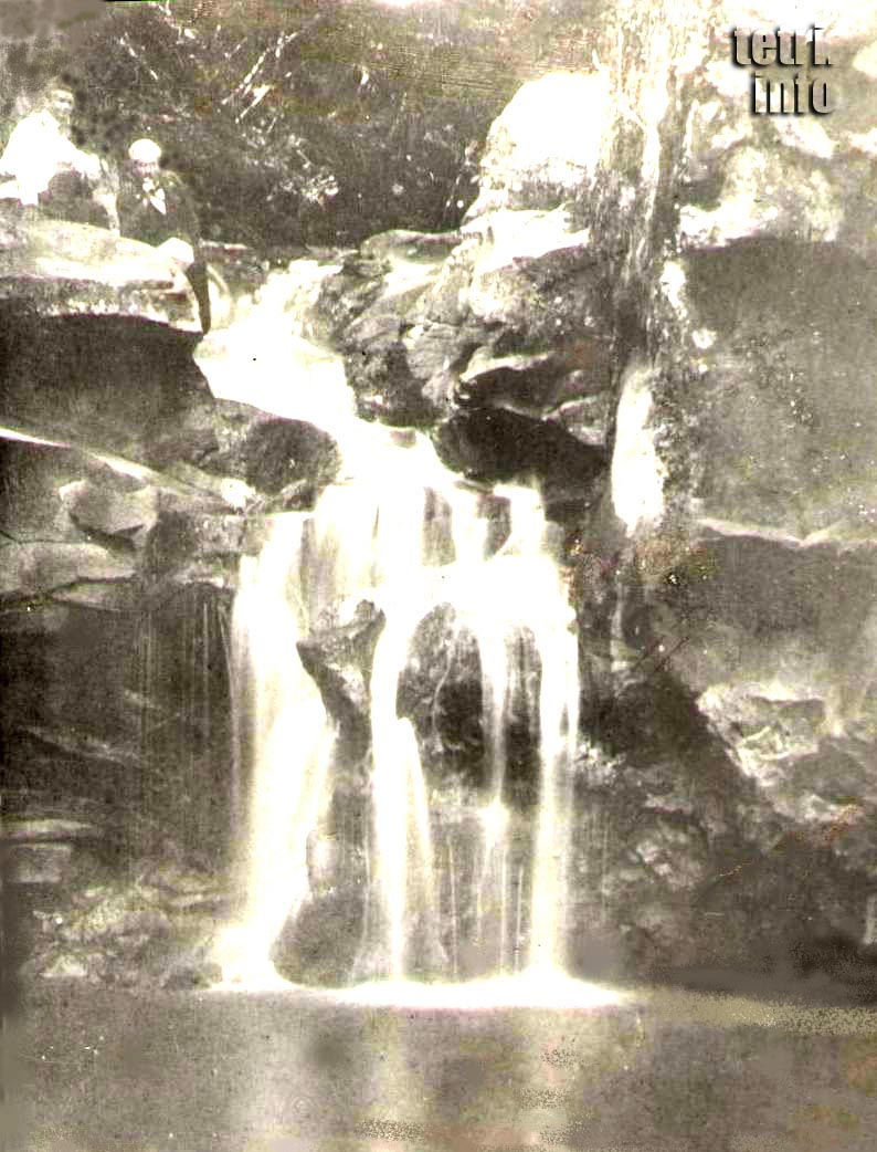 A waterfall on the Chivchavi river near Tetri Tskaro - old photo