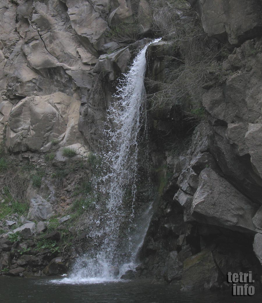 The last waterfall on the river Chivchavi near Tetri Tskaro